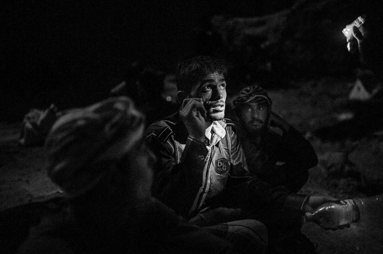 August 2017  The Afghan refugees who is begging for not being arrested, he gives his knife to his boss because they donÕt have any permission to carry any cold weapon with them, refugees will have a lot of problems by entering in Iran, as get abduction by robbers and asking for money from their families or using of them as workers. They have no definite future.